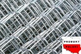 Siatki ogrodzeniowe plecione ocynkowane - OCZKO 65mm x 65mm