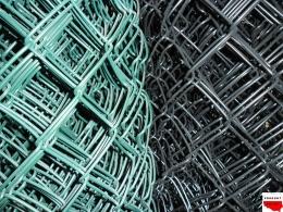 Siatka pleciona (STAL+PVC) OCZKO 60mm x 60mm
